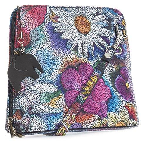 Big Handbag Shop, Borsa a tracolla donna Taglia unica Mosaic - Blue Floral