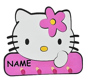 Kleiderhaken clipart  3-D Kindergarderobe - Hello Kitty incl. Namen - mit 4 Kleiderhaken ...
