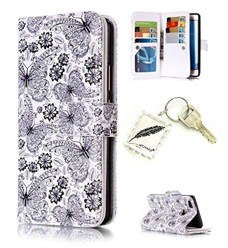 Preisvergleich Produktbild Silikonsoftshell PU Hülle für Huawei P9 Lite Tasche Schutz Hülle Case Cover Etui Strass Schutz schutzhülle Bumper Schale Silicone case+Exquisite key chain X1#AX (8)