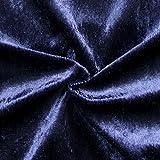 Unbekannt Pannesamt Stoff Meterware Nachtblau