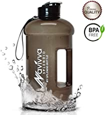 Spülmaschinenfest Tritan 2,2 Liter Trinkflasche - Heiße Kalte Getränke - Große Kapazität, Auslaufsicher, BPA frei, Extra Stark - Wasserflasche für Fitness Camping Fahrrad Gym Haus oder Büro