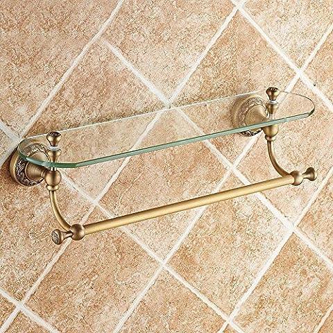 YUPD@Rame antico vetro ripiano tavolo da toeletta con asciugamano bar-bagno bagno rack
