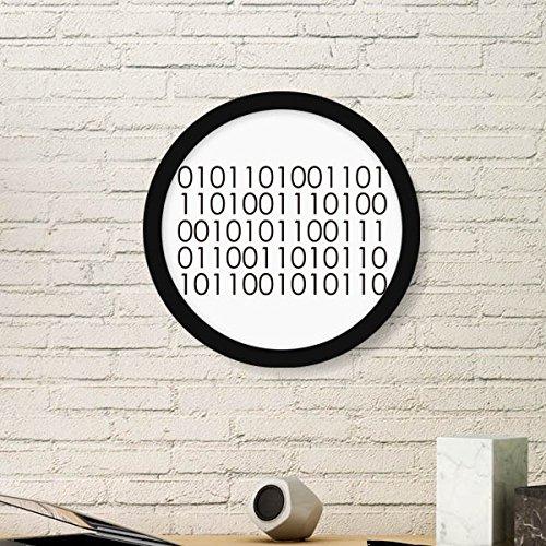 DIYthinker Programmer Binär-System der Welt Runde Bilderrahmen Kunstdrucke von Paintings Startseite Wandtattoo Geschenk Medium Schwarz