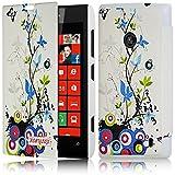 Seluxion - Coque Housse Etui à Motif HF01 rabat latéral et porte-carte pour Nokia Lumia 520 + Film de Protection