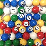 Multi Colour Plastic Bingo Ball Set