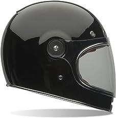 Bell Powersports Bullitt Motorradhelm, Schwarz (Solid Schwarz), M