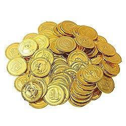 Beyond Dreams 150 Münzen   Spielgeld für Kinder   Piratenmünzen Piratenparty   Fake Geld zum Spielen   Piratenschatz   Goldmünzen   Spielzeuge als Mitgebsel Kindergeburtstag   Geburtstag Geschenk