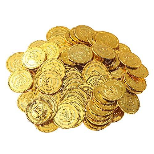 �nzen Spielgeld für Kinder | Fake Geld zum Spielen | Spielgeldset für Kinderkasse | Piraten Party Kindergeburtstag Mitgebsel Geschenk | Piratenschatz Schatzsuche ()