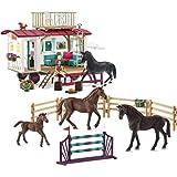 مجموعة لعبة هورس كلوب تعليمية للتدريبات السرية في العربة المتنقلة من شلايش، للاطفال بعمر 5 - 12 سنة
