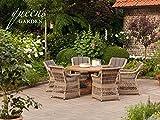 Hochwertige Queen's Garden Gardino-Pro Sitzgruppe Allegro 6-Personen / Gartenmöbel / Terrassentisch / Outdoor