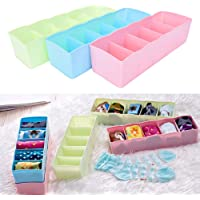 INOVERA (LABEL) Plastic Underwear Innerwear Socks Storage Drawer Organiser (Set of 4), 26.5L x 8B x 6.5H cm