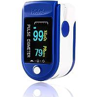 Pulsossimetro da Dito, Saturimetro Dito Professionale,Display OLED Ossimetro Professionale, Pulse Oximeter di Sangue per…