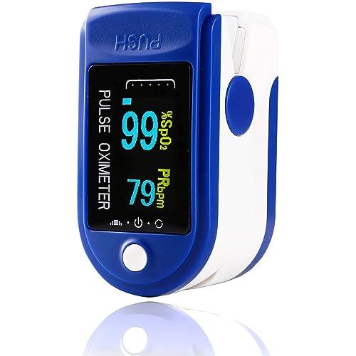 Pulsossimetro da Dito, Saturimetro Dito Professionale,Display OLED Ossimetro Professionale, Pulse Oximeter di Sangue per Domestico, Fitness e Sport estremo - Certificato CE
