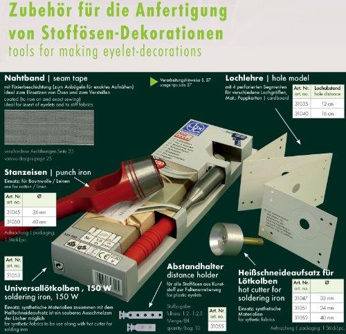 Ruther & Einenkel Stanzeisen ø 24 mm für Stoffösendekorationen/Aufmachung 1 Stück