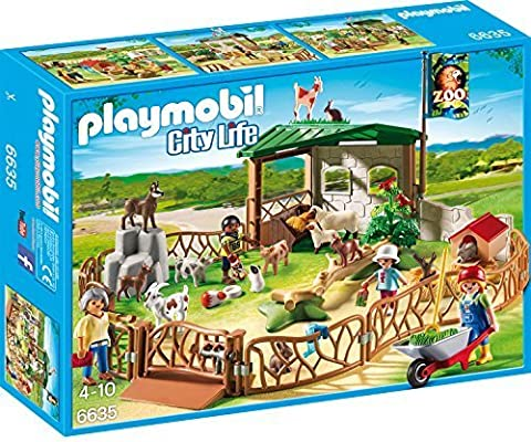 PLAYMOBIL Children's Petting Zoo Building Kit by