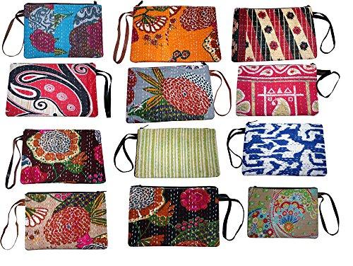 Großhandel Geldbörse indische Clutch Damen EDH Kantha Handmade Wallet 20Stück (Bag Purse Handtasche Tote Handmade)