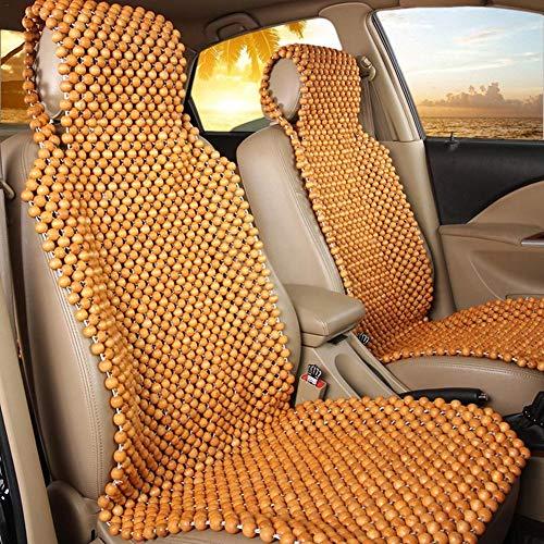Destinely 45 x 130 cm Autositzbezüge Sitzauflage Auto Holzkugeln Sommer Autokissen Holzperlen Massagekissen Atmungsaktiv Sitzauflage Auto Rückenmassage Komfort Kissen Matte Universal für Auto LKW
