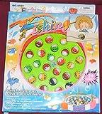 Drehende magnetischer Angelspiel Double Fish Pool Elektrische Spielzeug mit der Musik-Licht für Kinder 3 Jahre alt und Up,36 Stück (Blau/Orange,Farbe zufällig)