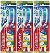 Colgate - Brosse � Dents Triple Action - Medium - couleur al�atoire - Lot de 3