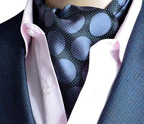 Kissing U Floral Cravat Ascot Soie Écharpes d'hommes Messieurs Paisley Jacquard Tissé Suit Accessoires 29
