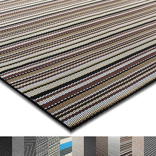 casa pura® Indoor- und Outdoor-Bodenbelag Asti | kunstvoll gewebt | als Teppich oder Läufer | 40 Größen (180x300cm) -