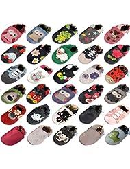 MiniFeet Prime Chaussures Bébé en cuir Souple, 0-6, 6-12, 12-18, 18-24 mois et 2-3 ans