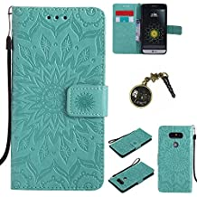 PU Cuir Coque Strass Case Etui Coque étui de portefeuille protection Coque Case Cas Cuir Swag Pour LG G5 + Bouchons de poussière (2FF)