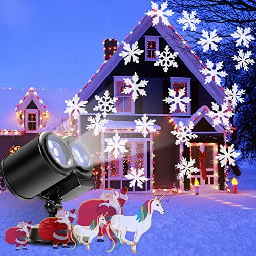 Projektor weihnachten | B-right LED Projektor Lampe Schneeflocken, Projektor Lichter außen Weihnachtsbeleuchtung für Weihnachten, Halloween, Party, Hochzeit, Geburstag, Kinderzimmer 10 Moc