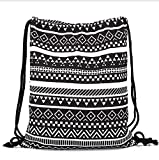 Aeoss Canvas Aztec Geometric Drawstring Gym College School Bag