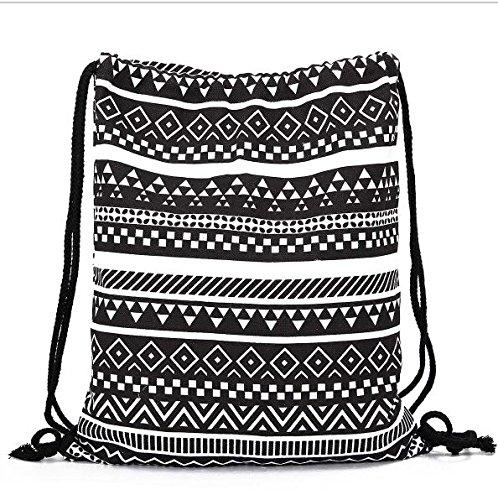 da3504236fca Aeoss Canvas Aztec Geometric Drawstring Gym College School Bag - Buy ...