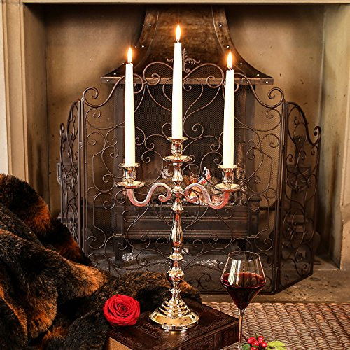 Dibor - French Style Accessories for the Home Élégant trois bras Chandelier Ensemble cadeau – complet avec bougies et Éteignoir – pour créer le ultime Idée de cadeau