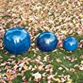 Gärtner Pötschke Keramik-Dekokugel blau 17 cm von Gärtner Pötschke - Du und dein Garten