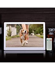 """Epyz HD ReadyDigital Picture Frame,Electronic Picture Frames,Digital Photo Frames,HD Wide Screen High Resolution with Remote (12"""" inch, White)"""