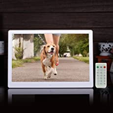 """Epyz HD Ready Digital Photo Frame With Fully Functional Remote (12""""inch, White)"""