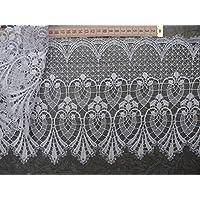 9 Meter Spitzenborte Baumwolle Weiß 80mm Tischdecke Hochzeitsdeko spitzenband