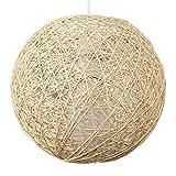 MiniSun – Kleiner, moderner und cremefarbiger Lampenschirm im Kugelform aus Korb – für Hänge- und Pendelleuchte