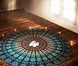 RAJRANG Indisch Mandala Strandtuch Türkis Runden Wandbehang Yoga Matte Roundie Handtuch Tapestry Rund Wandteppich Von Rajarng
