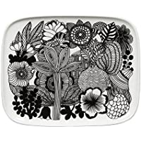 Marimekko - Oiva/Siirtolapuutarha - Teller - 15x12 cm - Schwarz/Weiß