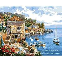 DH Murals impresión de Arte Lienzo Pintura al óleo Pintada a Mano del Paisaje Sala de Estar Pintura al óleo Hecha a Mano Europea Pintura Decorativa
