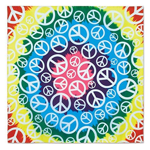 Beistle 60868 Halstuch, Peace-Zeichen, 56 x 56 cm