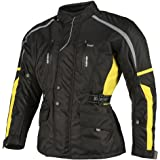 Ledershop-online Bangla Motorradjacke Tourenjacke Motorrad Textiljacke 1876 Schwarz Gelb XXL
