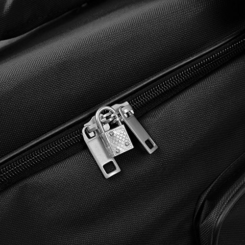 Grand sac de voyage trolley 100L avec roulettes - Noir - sac transport & cadenas