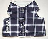 Twinkys Dog Style Hunde Softgeschirr XS Blau weiß Kariert mit Totenkopf und Anker für Kleine Hunde