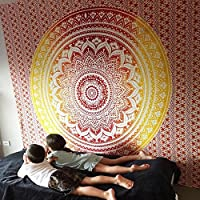Makes a great wall hanging, tablecloth, beach cover up, Dorm, couch cover or window curtain other Home Décor purposes;Material: 100% Cotton;~A GREAT AFFORDABLE GIFT;Measures approximately 86 by 100 inches;Intricate Design