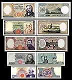 *** 1000 - 100000 Lire Serie - 1962-1971 italienische Lire - 5 alte Banknoten - alte italienische Währung - Reproduktion ***