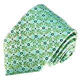 Lorenzo Cana - Marken Krawatte aus 100% Seide Aqua Türkis Hellgrün Blaugrün Punkte - 84553