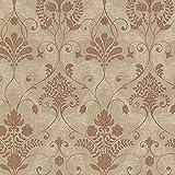 BHF 2614-21035 Andalusia Damask Wallpaper - Sienna