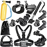 Robustrion 12 in 1 Mounts, Straps & Accessories Kit for GoPro Hero 8/7/6/5/4/3/2/1/SJCAM/Akaso/Apeman/Xiaomi Yi Action Camera