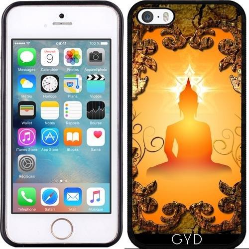 Leder Flip Case Tasche Hülle für Apple iPhone 6/6S - Buddha In Den Sonnenuntergang by nicky2342 Silicone