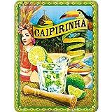 Nostalgic-Art 26145 Open Bar - Cocktail-Time - Caipirinha, Blechschild 15x20 cm